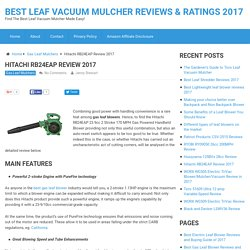Hitachi RB24EAP Review 2017 - Rebate and Best Price