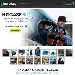 Waterproof and Shockproof iPhone 5, 5s and iPhone 4/4s case w/ GoPro mounts & wide angle lens. - Hitcase