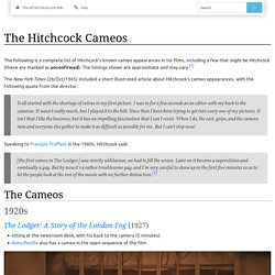 The Hitchcock Cameos - The Alfred Hitchcock Wiki