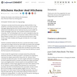 Hitchens Hacker And Hitchens