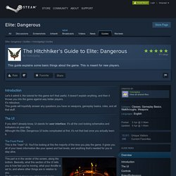 The Hitchhiker's Guide to Elite: Dangerous