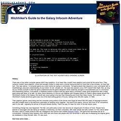 DNA/Hitchhiker's Guide to the Galaxy Infocom Adventure