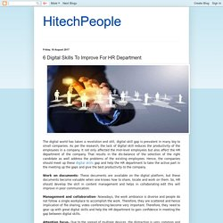 6 Digital Skills To Improve For HR Department