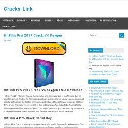 HitFilm Pro 2017 Crack V4 Keygen Full Version Free Download