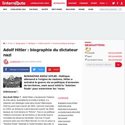 Biographie Adolf Hitler