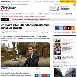 Un maire cite Hitler dans son discours sur la Libération