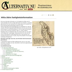 Hitta äldre fastighetsinformation - Handbok