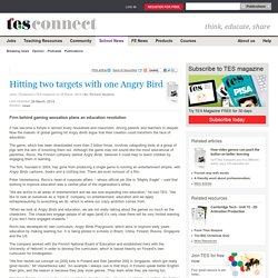 Hitting two targets with one Angry Bird - news - TES