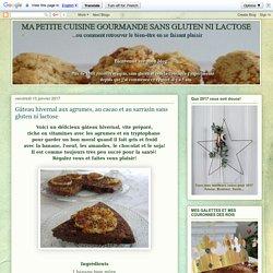 Gâteau hivernal aux agrumes, au cacao et au sarrasin sans gluten ni lactose
