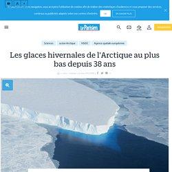 Les glaces hivernales de l'Arctique au plus bas depuis 38 ans - Le Parisien