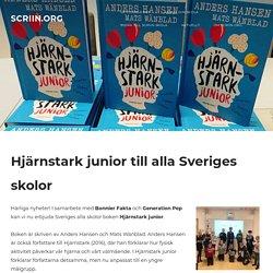 Hjärnstark junior till alla Sveriges skolor! - SCRIIN.ORG