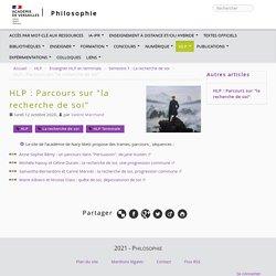 """HLP : Parcours sur """"la recherche de soi"""""""