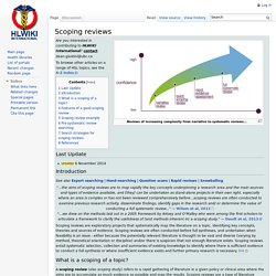Scoping reviews - HLWIKI Canada