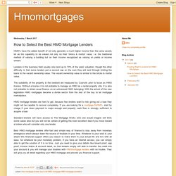 Hmomortgages: How to Select the Best HMO Mortgage Lenders