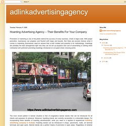 adlinkadvertisingagency: Hoarding Advertising Agency – Their Benefits For Your Company