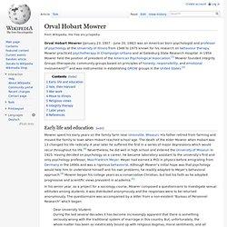 Orval Hobart Mowrer