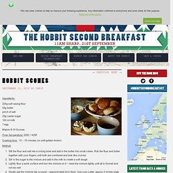 Hobbit Scones | The Hobbit Second Breakfast