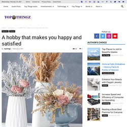 A hobby that makes you happy and satisfied - TopThingz