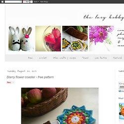 Starry flower coaster - free pattern