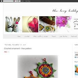 ornement Crochet - modèle gratuit