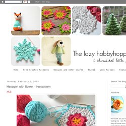 Hexagon with flower - free pattern