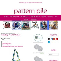 Hobo Bag - Free PDF Pattern