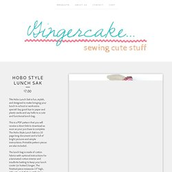 Gingercake — Hobo Style Lunch Sak