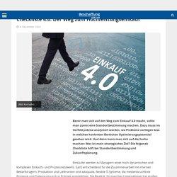 Wegweiser 4.0, Teil VIII Checkliste 4.0: Der Weg zum Hochleistungseinkauf - Beschaffung aktuell