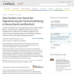 Zwei Studien zum Stand der Digitalisierung der Hochschulbildung in Deutschland veröffentlicht