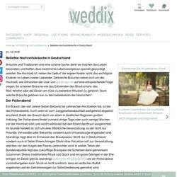 Beliebte Hochzeitsbräuche in Deutschland - weddix