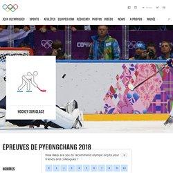 Hockey sur glace - sport olympique d'hiver