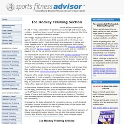 Ice Hockey Training & Conditioning