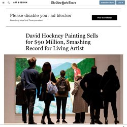 David Hockney Painting Sells for $90 Million, Smashing Record for Living Artist
