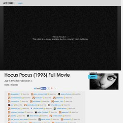Hocus Pocus (1993) Full Movie Video