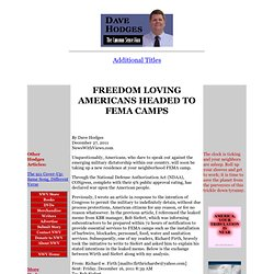 Dave Hodges -- Freedom-Loving Americans Headed to FEMA Camps