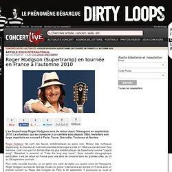 Roger Hodgson (Supertramp) en tournée en France à l'automne 2010 - Concert Live