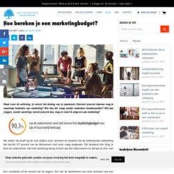 Hoe bereken je een marketingbudget?