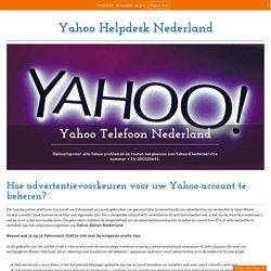Beheer of stop advertenties in Yahoo Mail