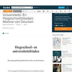 scribd: Martine van Deurssen Onafhankelijkheid Van Universiteits- En Hogeschoolblaadjes Martine van Deursen