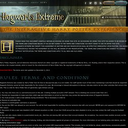 Hogwarts Extreme : An Interactive Harry Potter RPG
