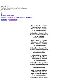 Hokey Pokey: Song for Teaching Names for Body Parts in Spanish