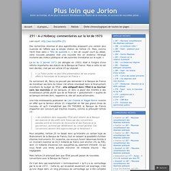 251 – A-J Holbecq: commentaires sur la loi de 1973