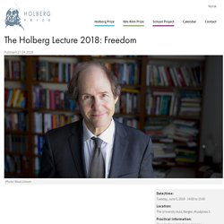 The Holberg Lecture 2018: Freedom