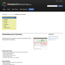HoldemResources - HoldemResources Calculator