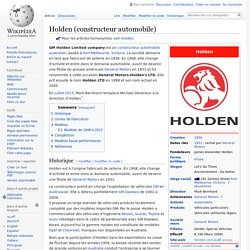 Holden (constructeur automobile)
