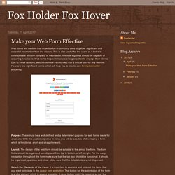 Make your Web Form Effective