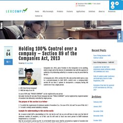 Section 89 of the Companies Act, 2013