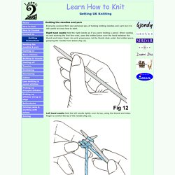Holding your needles - Learn How to Knit in the UK