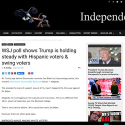 WSJ poll shows Trump is holding steady with Hispanic voters & swing voters