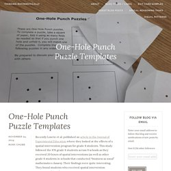 One-Hole Punch Puzzle Templates